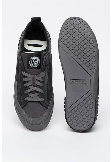Diesel Pantofi sport din piele cu insertii din piele intoarsa S-Bully Barbati