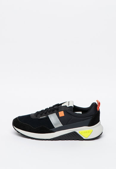 Diesel Pantofi sport din material textil si piele KB Barbati