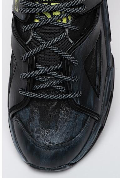 Diesel Pantofi sport din piele ecologica cu insertii din plasa S-Kipper Barbati