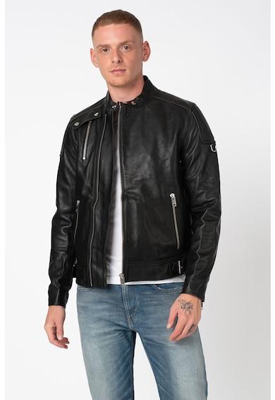 Diesel Jacheta biker de piele Cody Barbati
