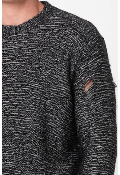 Diesel Pulover din amestec de lana cu detalii deteriorate Josh Barbati