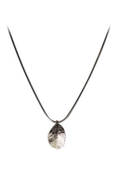 Coal Colier cu pandantiv frunza Femei