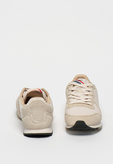 SUPERDRY Retro Logo Runner sneaker nyersbőr szegélyekkel női