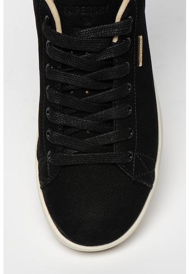 SUPERDRY Premium Vintage nyersbőr sneaker logós részletekkel női