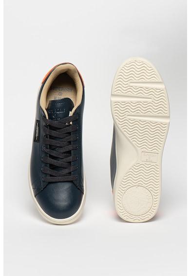 SUPERDRY Vintage műbőr sneaker kontrasztos szegélyekkel férfi