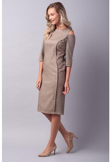 Couture de Marie Rochie din amestec de lana cu croiala bodycon si decupaje pe umeri Femei