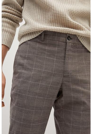 Mango Кариран панталон Brest чино Мъже