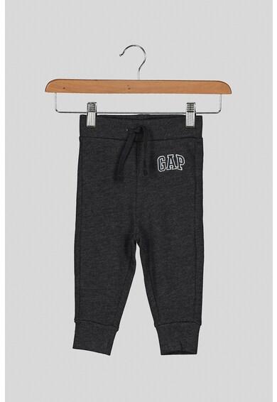 GAP Pantaloni sport cu captuseala de fleece si logo brodat Fete