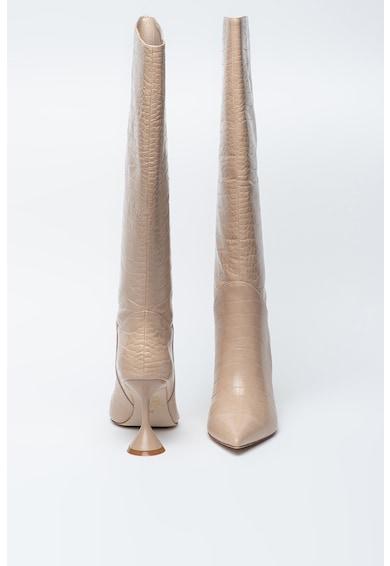 Jeffrey Campbell Cizme inalte pana la genunchi de piele ecologica cu aspect piele de crocodil Entity-2 Femei