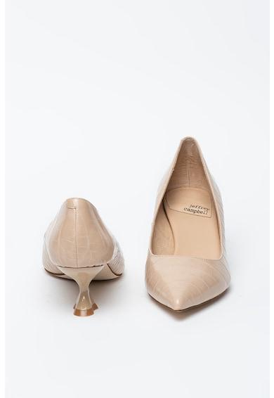 Jeffrey Campbell Pantofi de piele ecologica cu toc kitten Totem Femei