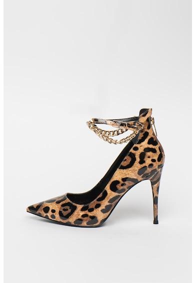 Guess Pantofi cu bareta pe glezna cu model leopard Femei