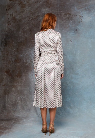 MIAU by Clara Rotescu Блуза и пола с коприна Blanche Жени