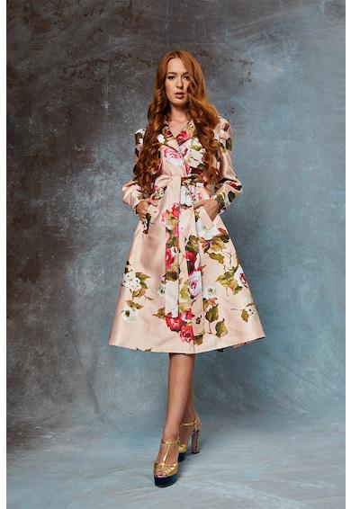 MIAU by Clara Rotescu Дълго палто May с флорална шарка Жени