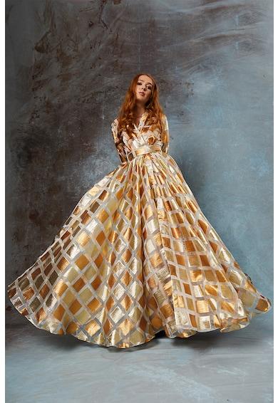 MIAU by Clara Rotescu Дълга рокля Viktoria с бляскава щампа Жени