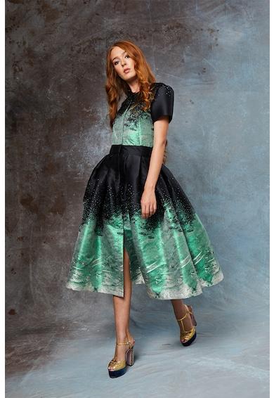 MIAU by Clara Rotescu Разкроена рокля Edmira с абстрактен десен Жени