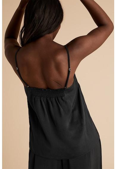 Marks & Spencer Top de pijama de satin cu insertie de dantela Femei