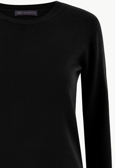 Marks & Spencer Фино плетен пуловер с овално деколте Жени