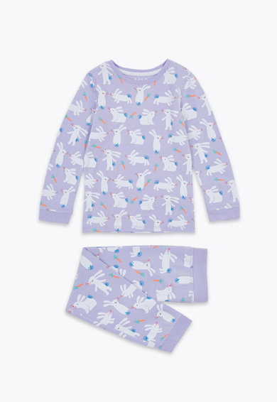 Marks & Spencer Десенирана пижама Момичета