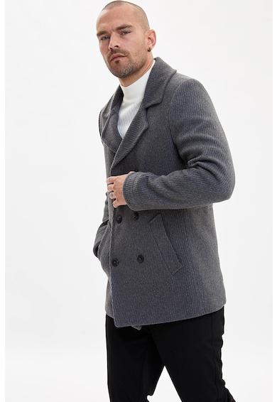 DeFacto Gyapjútartalmú dupla gombsoros kabát férfi