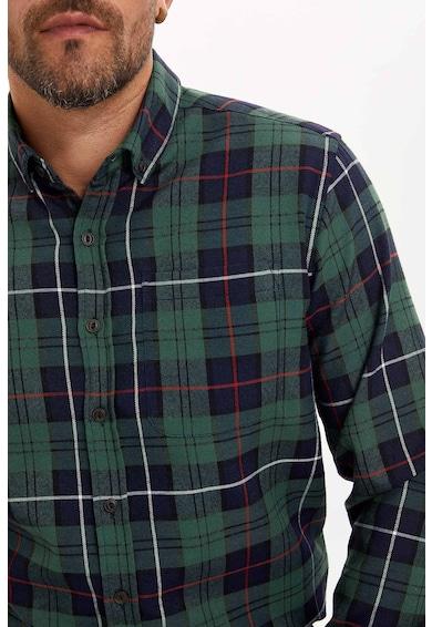 DeFacto Kockás ing legombolható gallérral férfi