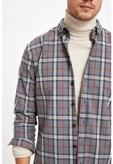 DeFacto Kockás ing legombolható gallérral 4 férfi