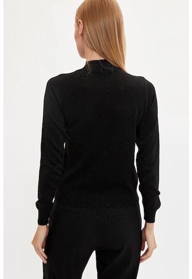 DeFacto Csillámos finomkötött pulóver kivágással női