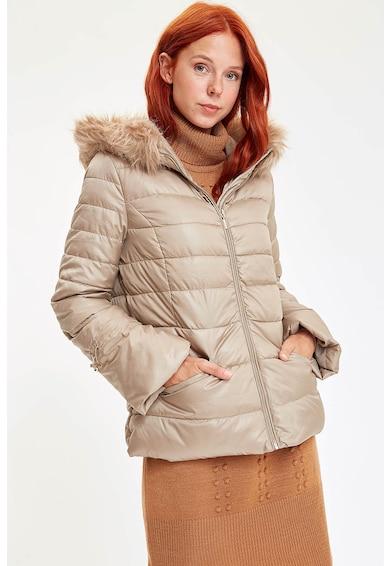 DeFacto Jacheta cu vatelina si garnitura de blana sintetica Femei
