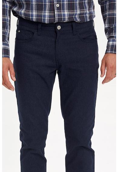 DeFacto Slim fit hajszálcsíkos nadrág öt zsebbel férfi