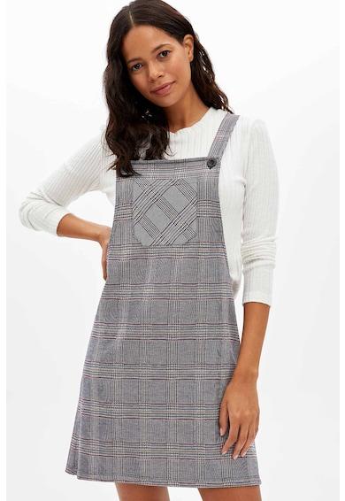 DeFacto A-vonalú kantáros ruha foltzsebbel női