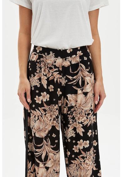 DeFacto Bő szárú virágmintás nadrág női