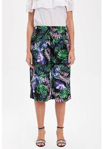 DeFacto Háromnegyedes nadrág trópusi mintával női