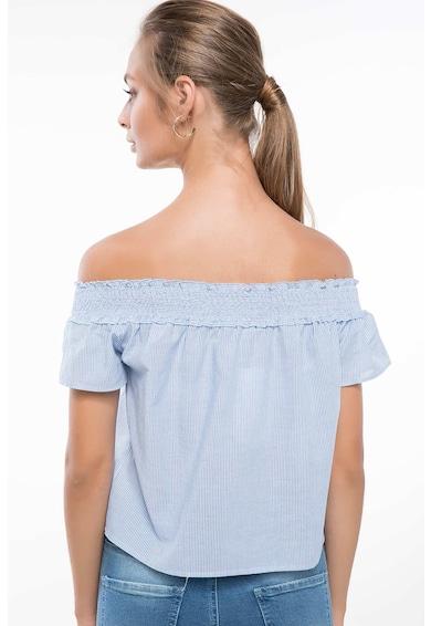 DeFacto Bluza cu decolteu pe umeri si model cu dungi discrete Femei