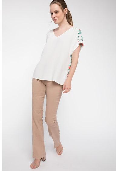 DeFacto Tricou cu decolteu in V si model floral pe partea din spate Femei