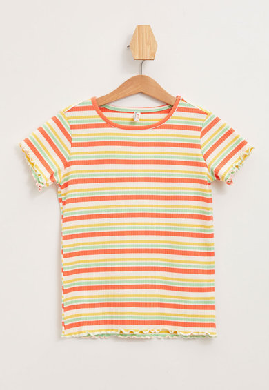 DeFacto Relaxed fit bordázott csíkos póló Lány