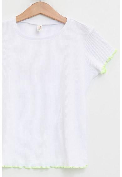 DeFacto Kényelmes fazonú bordázott póló Lány