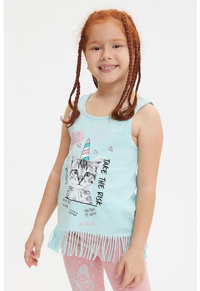 DeFacto Ujjatlan mintás póló fodrokkal Lány