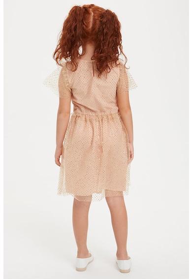 DeFacto Bővülő fazonú ruha hálós anyagú felsőréteggel Lány