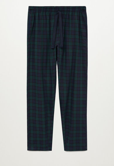 Mango Pijama cu pantaloni cu model in carouri Piwatch Barbati