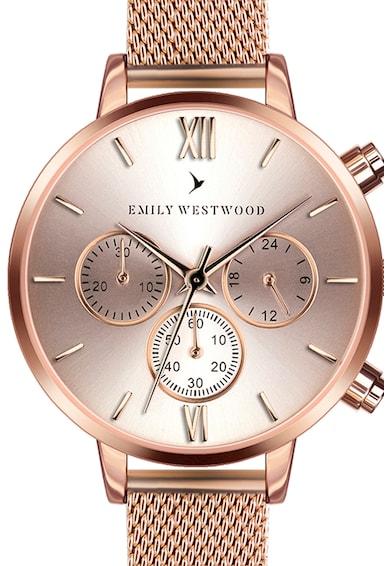 Emily Westwood Ceas cronograf cu bratara cu model plasa Femei