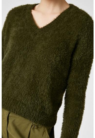 KOTON V-nyakú bolyhos pulóver női