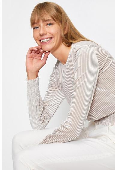 KOTON Bluza de catifea cu maneci lungi Femei