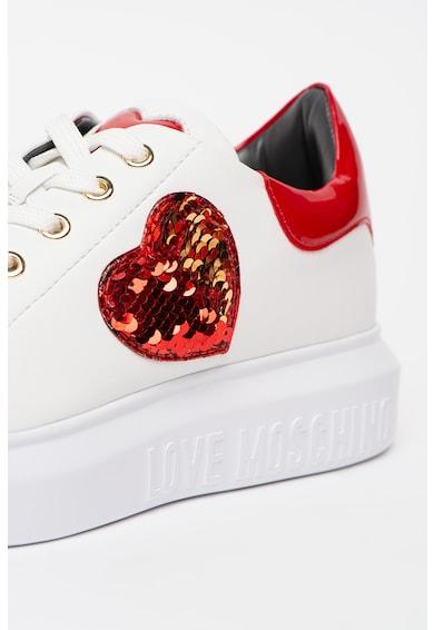 Love Moschino Pantofi sport cu inima din paiete Femei