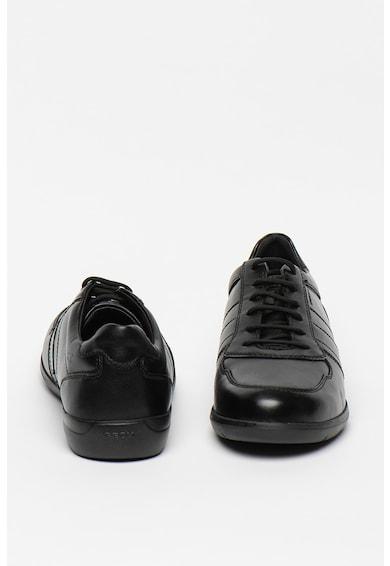 Geox Pantofi casual de piele si piele ecologica Leitan Barbati