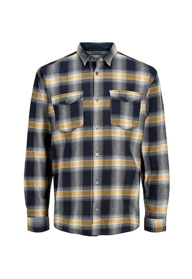 Jack&Jones Карирана риза с пришити джобове Мъже