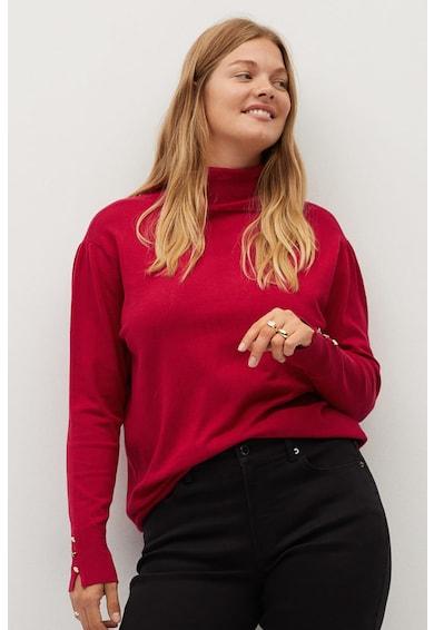 VIOLETA BY MANGO Pulover tricotat fin, cu guler inalt Gina Femei