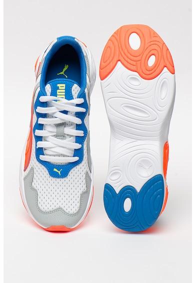 Puma Pantofi sport din piele ecologica si material textil, cu model colorblock Magma Barbati
