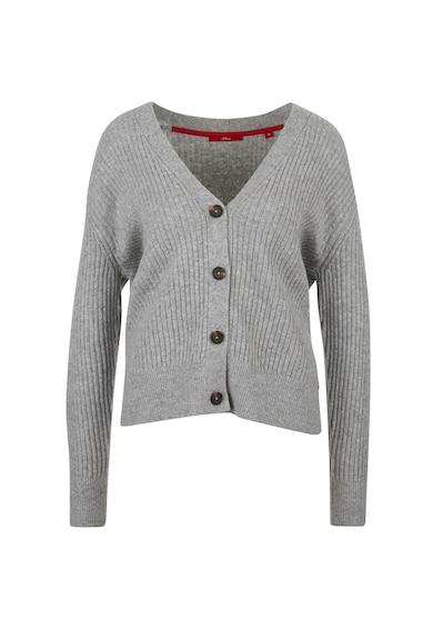 s.Oliver Cardigan din amestec de lana cu striatii si decolteu in V Femei