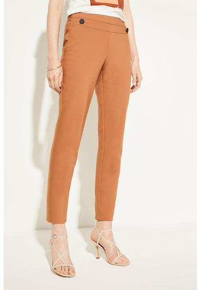 comma, Pantaloni tigareta cu nasturi decorativi Femei