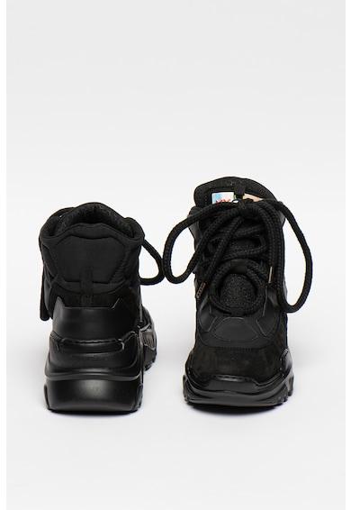 My Grey Pantofi sport mid-cut din piele cu talpa wedge Femei