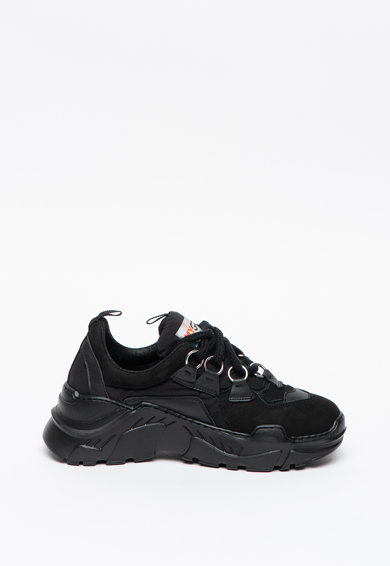 My Grey Pantofi sport de piele si material textil cu talpa masiv Zen Femei